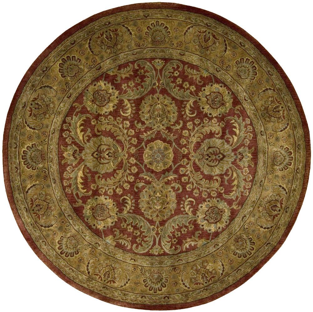 9 X 12 Nourison Nourmak Hand Knotted 100 Wool Persian: Nourison BURGUNDY Rug, JAIPUR JA17