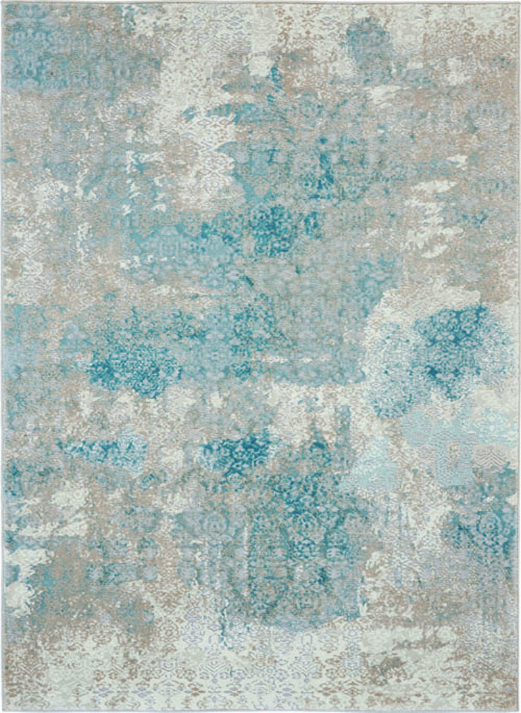 Nourison Karma KRM07 Ivory/Light Blue Rug