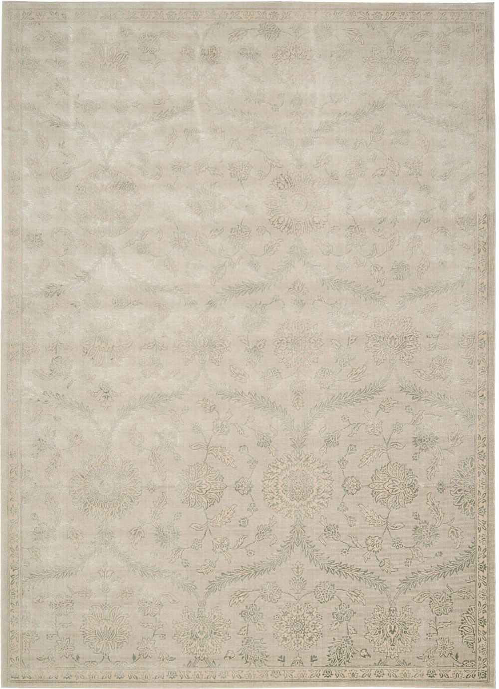 Nourison LUMINANCE LUM04 CREAM MINT Rug
