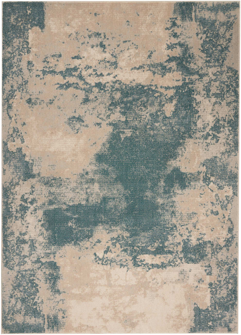 Nourison MAXELL MAE13 IVORY/TEAL Rug