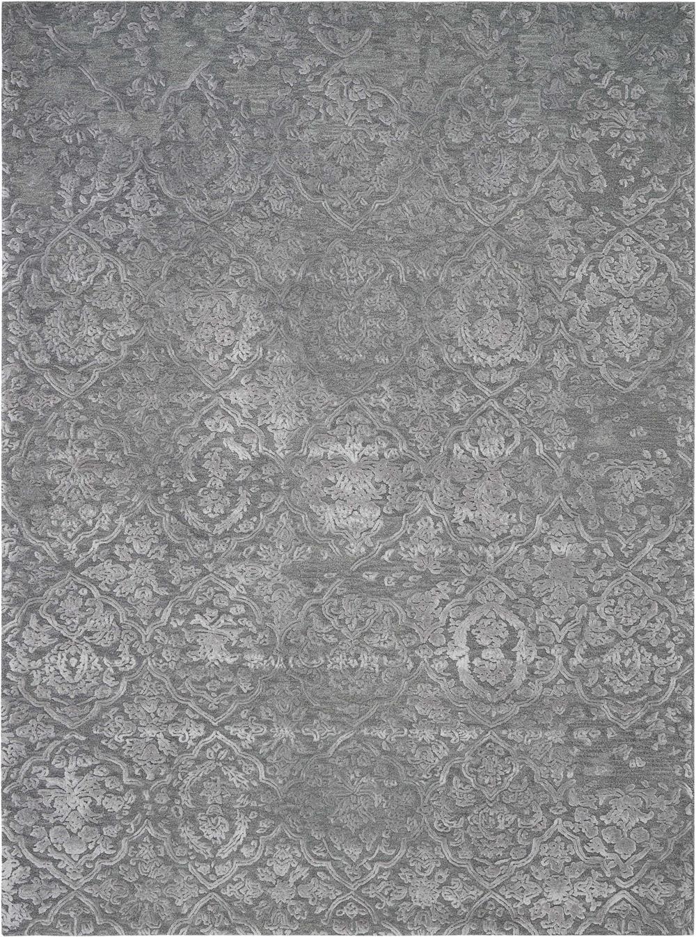 Nourison OPALINE OPA14 CHARCOAL/SILVER Rug