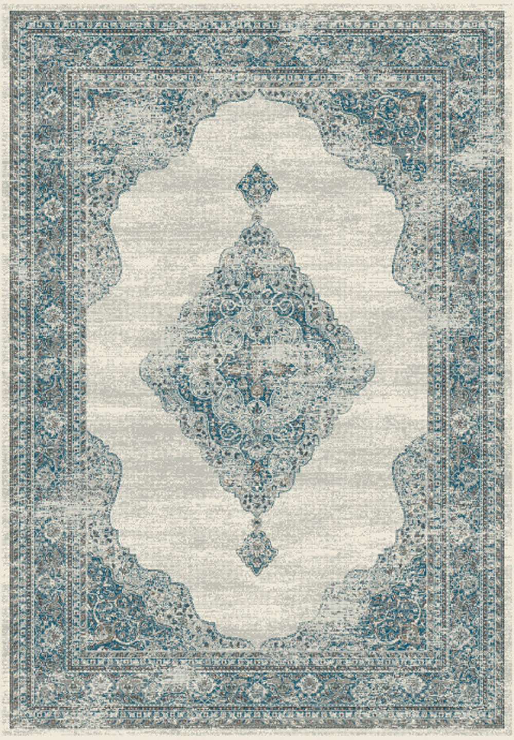 Dynamic REGAL 88416 Grey/Blue Rug