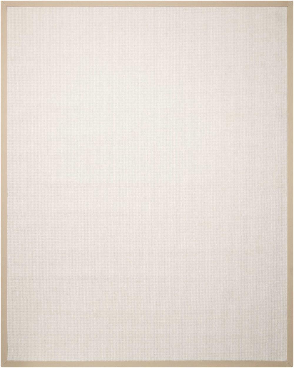 Nourison SISALSOFT SSF02 WHITE Rug