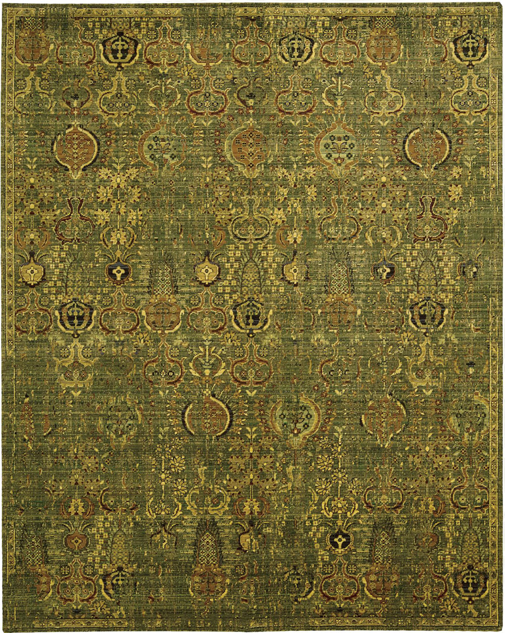 Nourison TIMELESS TML11 GREEN GOLD Rug