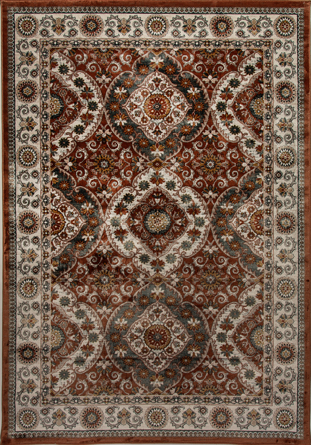 Dynamic VENICE 1578 RUST/CREAM Rug