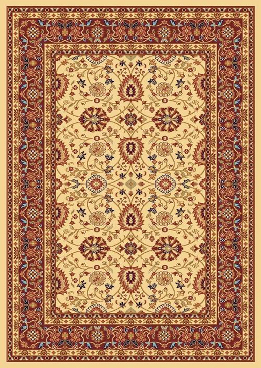 Dynamic YAZD 2803 CREAM-RED Rug