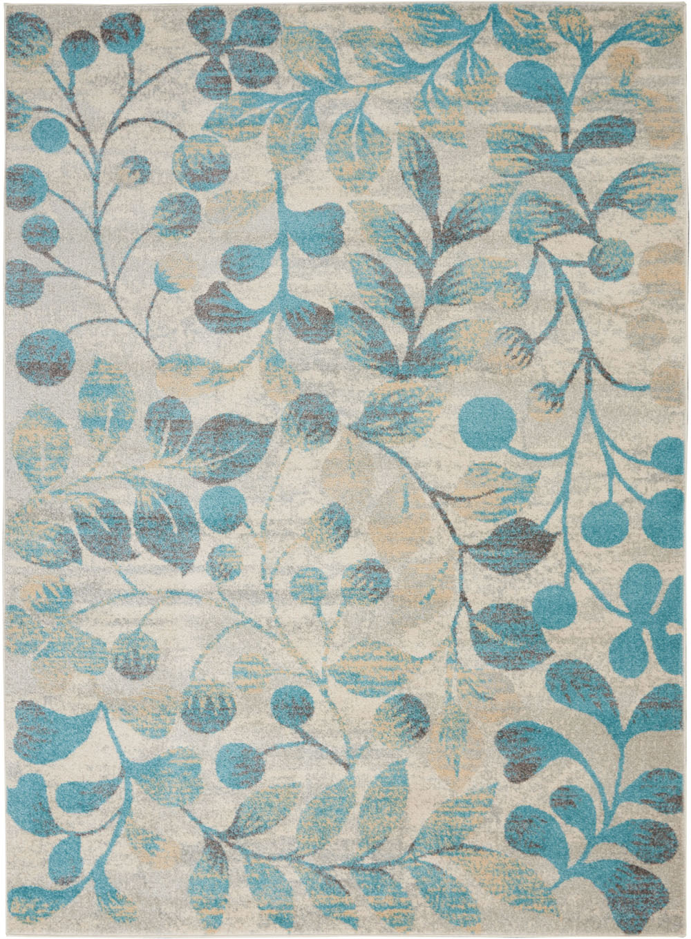 Nourison Tranquil TRA03 Ivory/Turquoise Rug