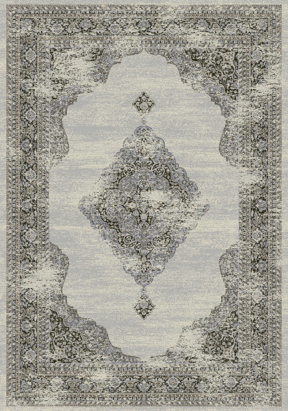 Dynamic ANCIENT GARDEN 57557 SOFT GREY/CREAM Rug
