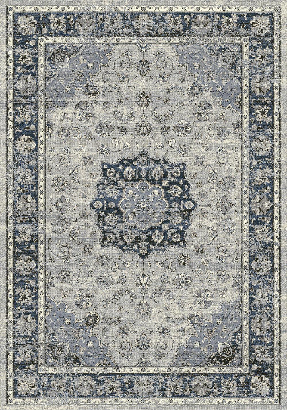 Dynamic ANCIENT GARDEN 57559 SILVER/BLUE Rug