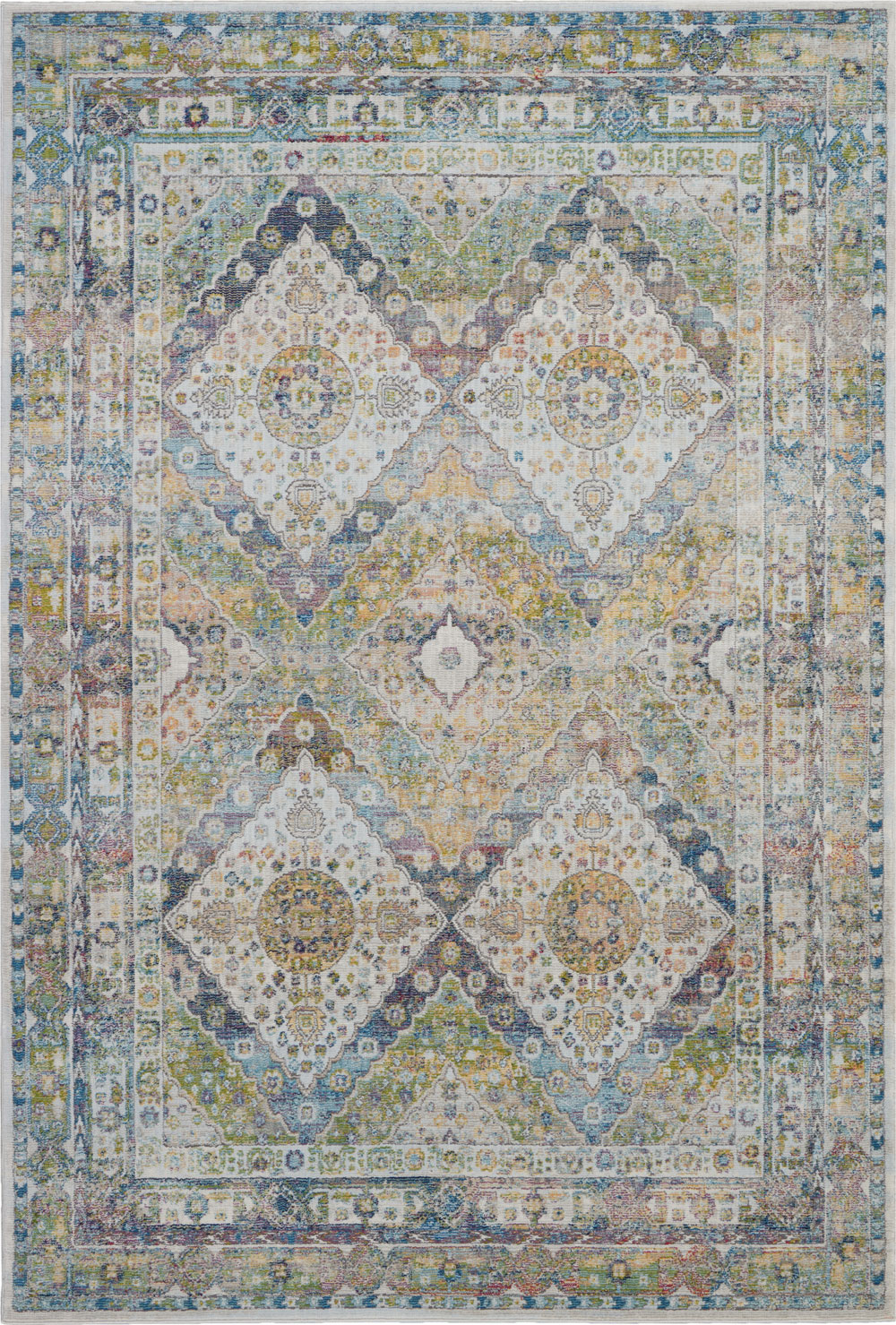 Nourison Global Vintage GLB07 Blue/Green Rug