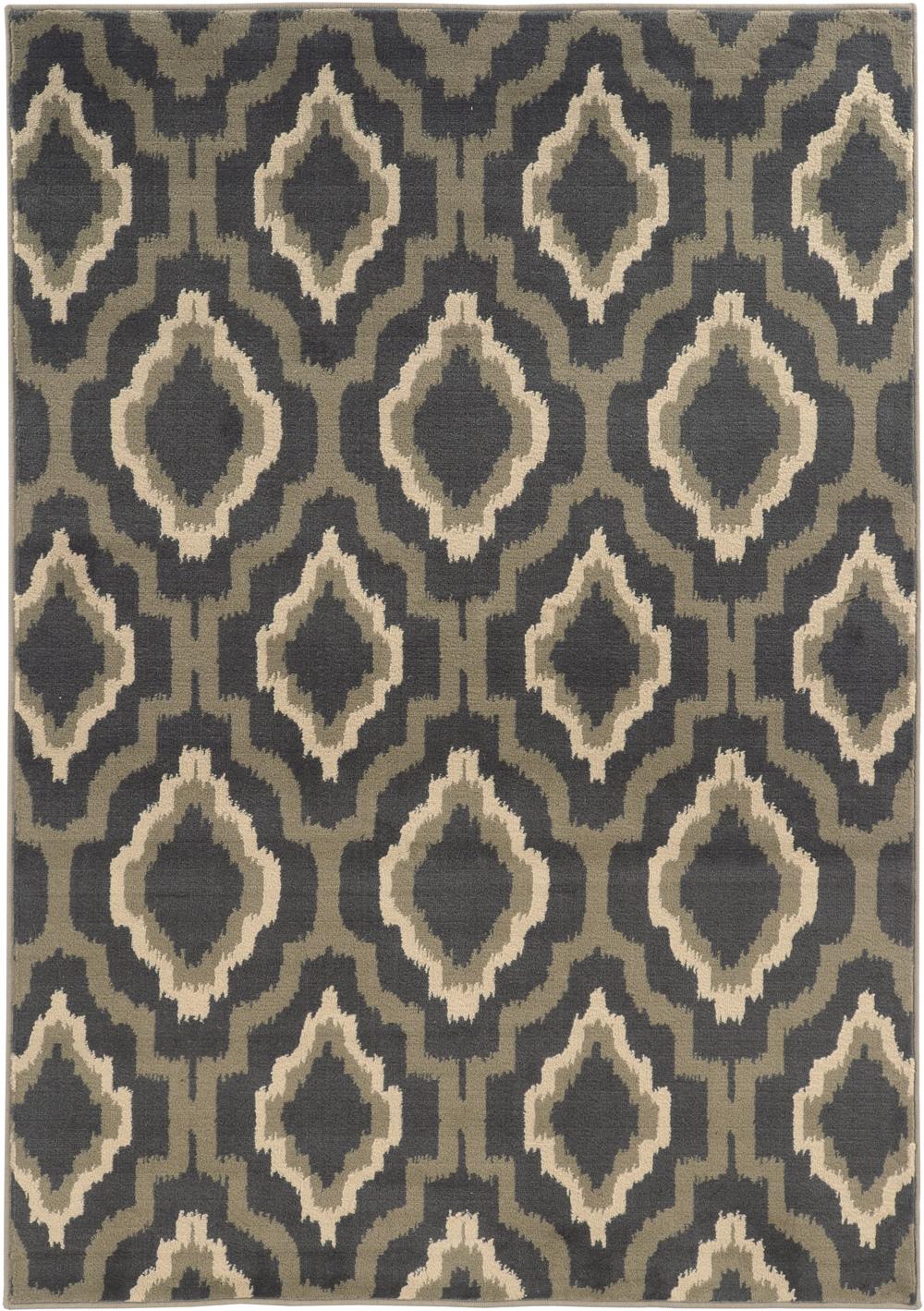 Oriental Weavers BRENTWOOD 5501D Charcoal Rug