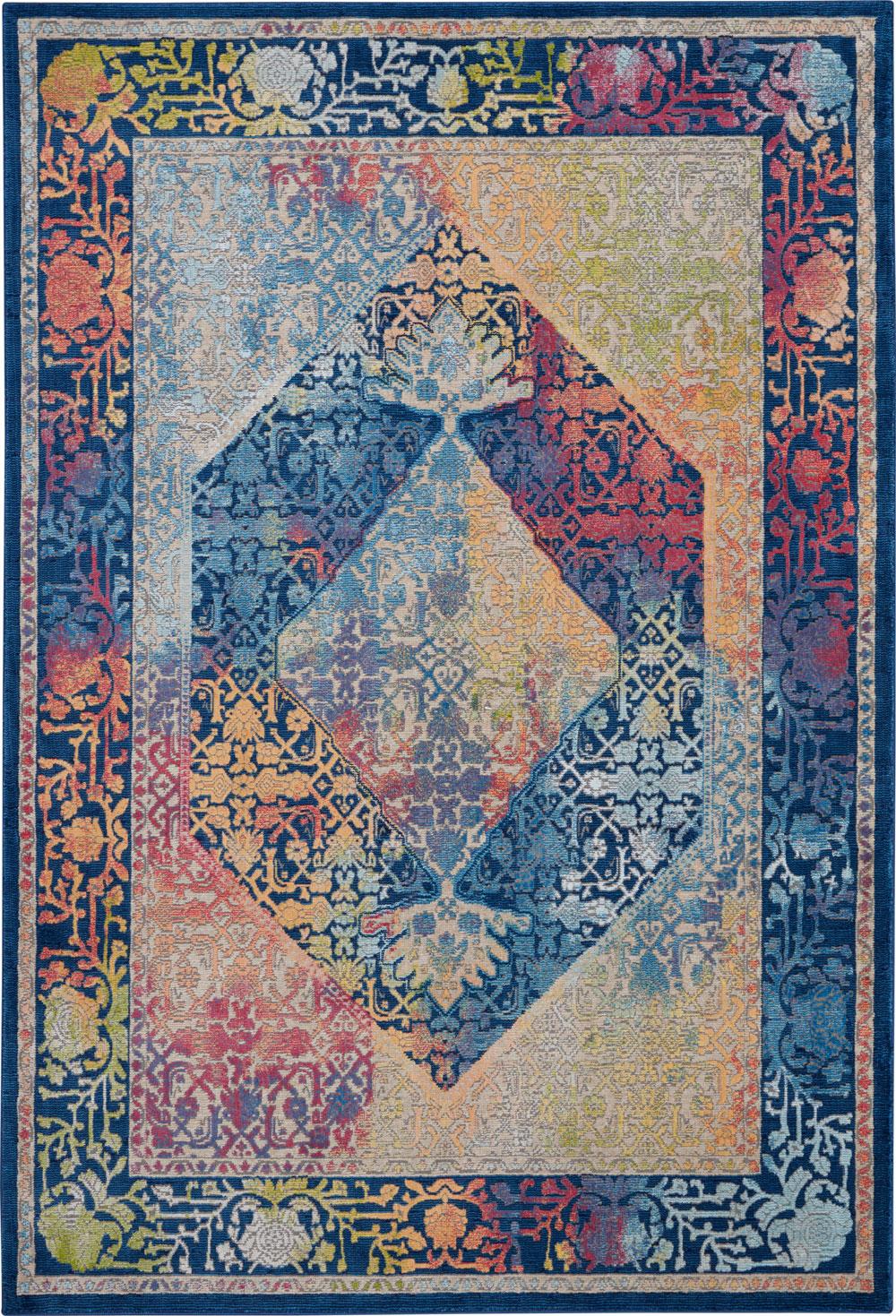 Nourison Global Vintage GLB04 Blue/Multicolor Rug