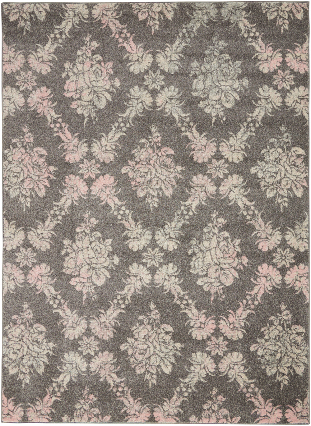 Nourison Tranquil TRA09 Grey/Pink Rug