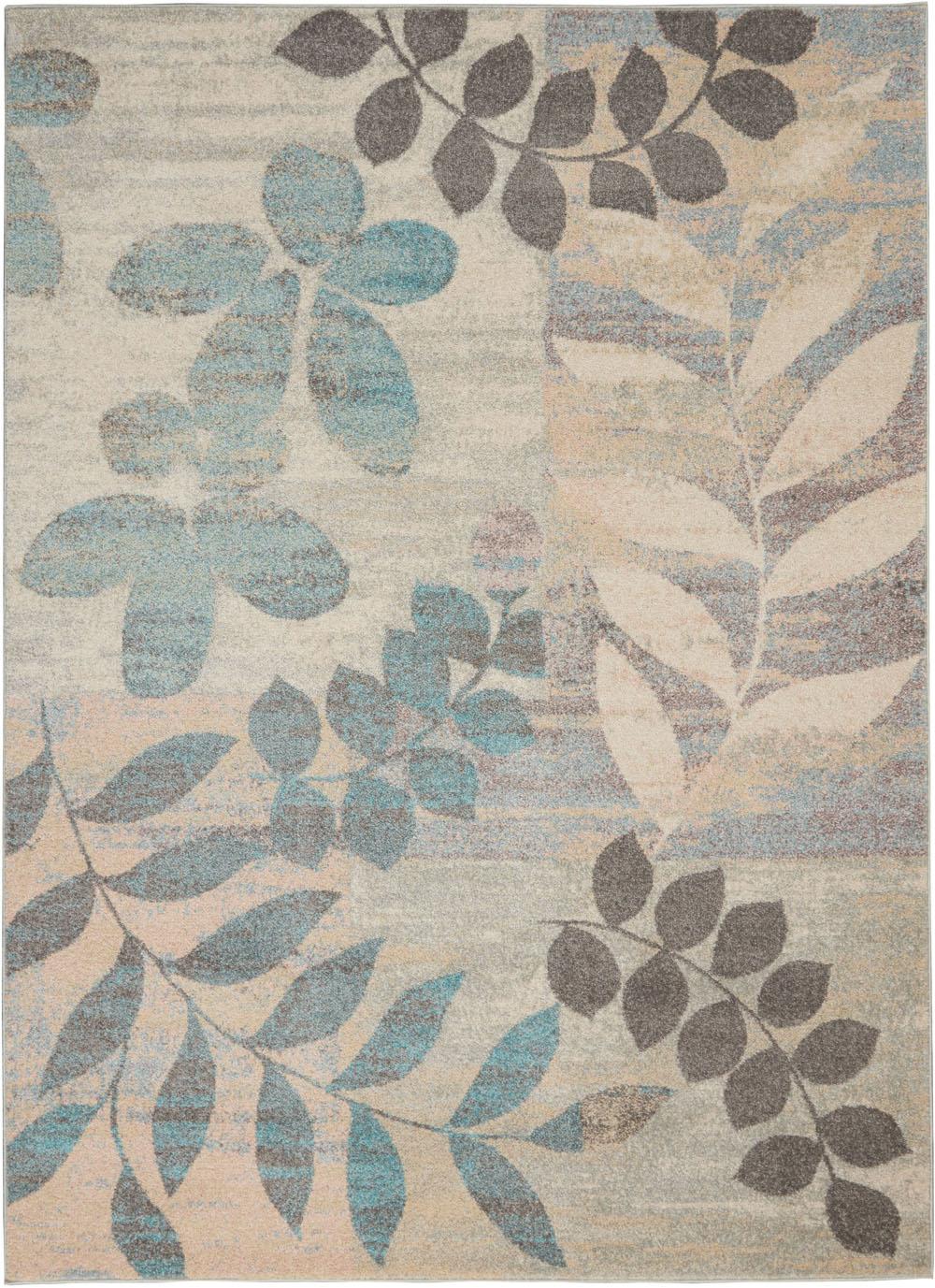 Nourison Tranquil TRA01 Ivory/Light Blue Rug