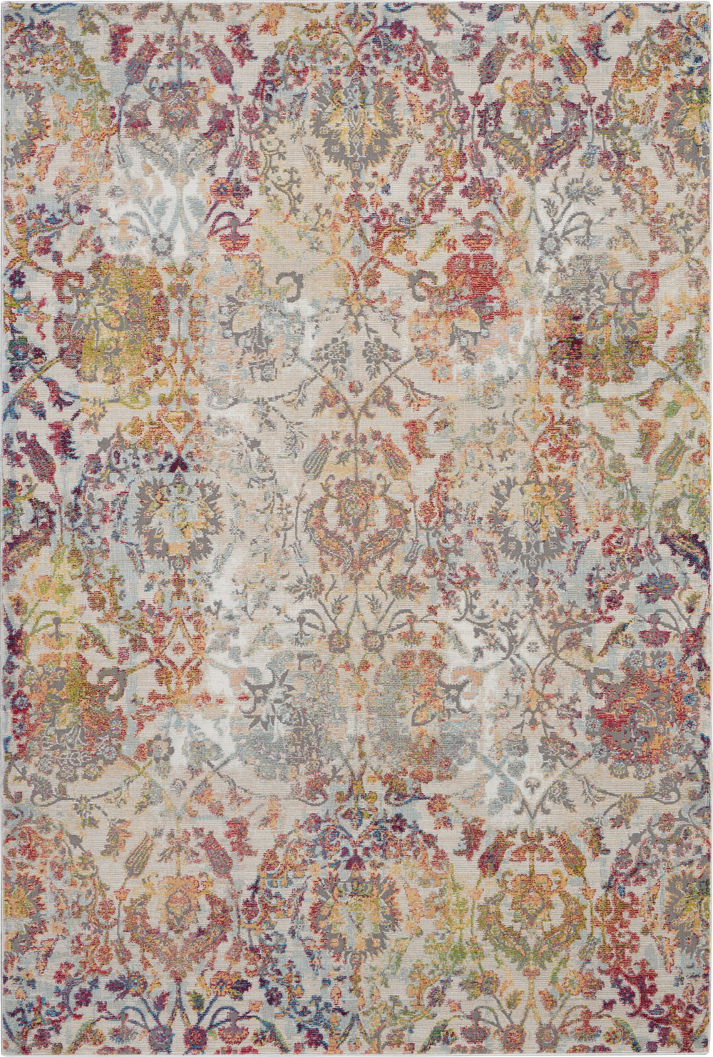 Nourison Global Vintage GLB06 Ivory/Orange Rug