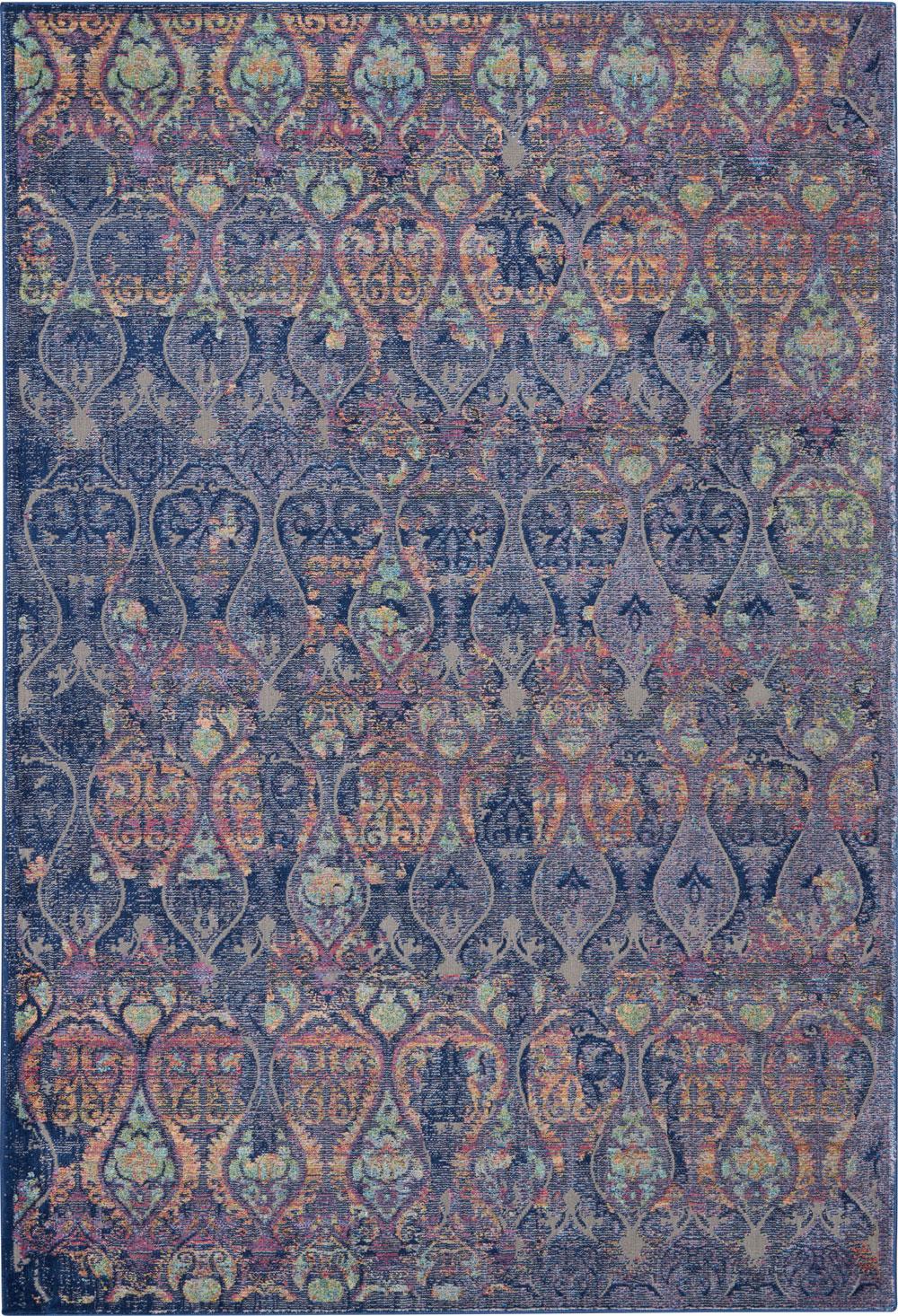 Nourison Global Vintage GLB08 Navy/Multicolor Rug
