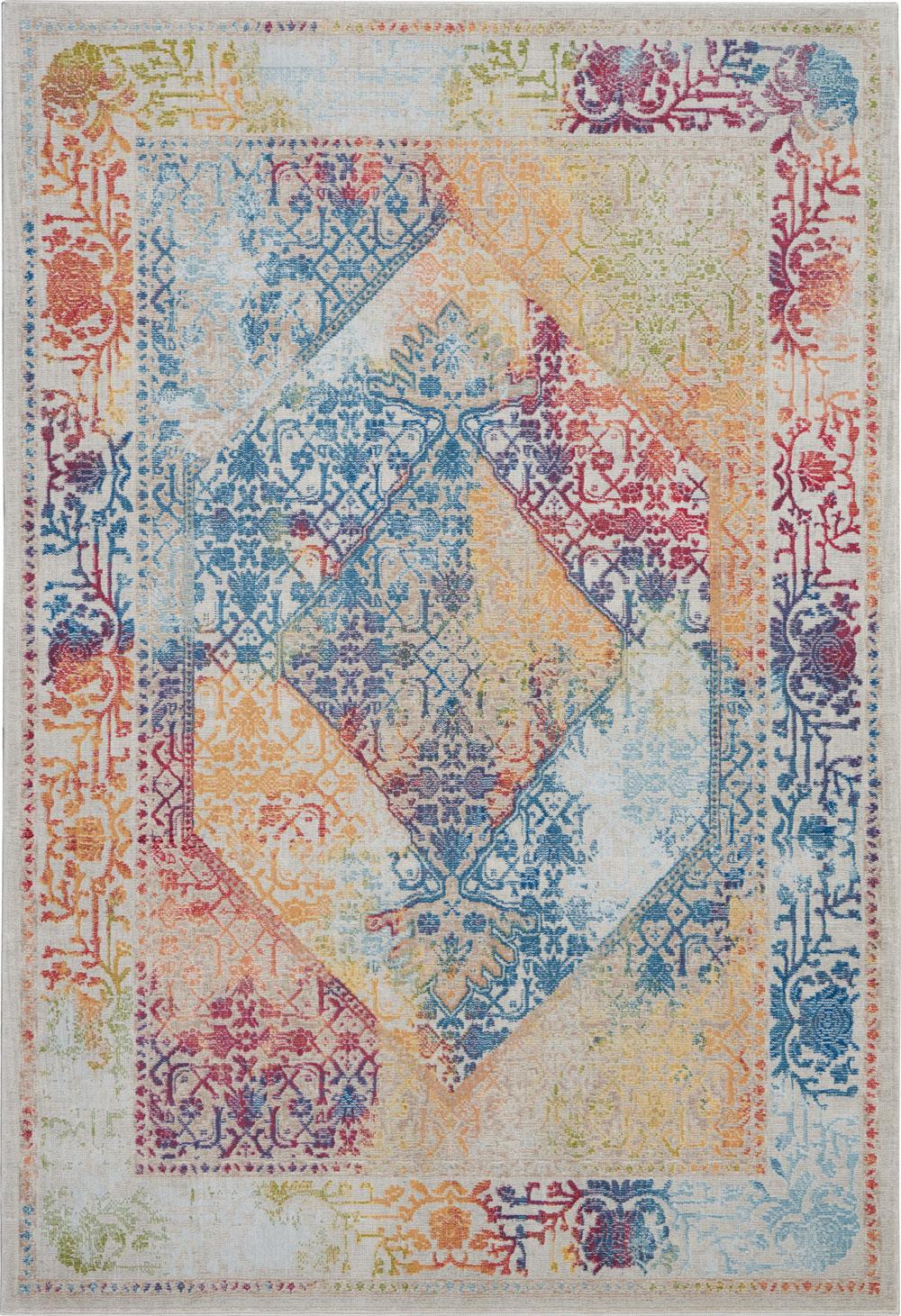 Nourison Global Vintage GLB04 Ivory/Multicolor Rug