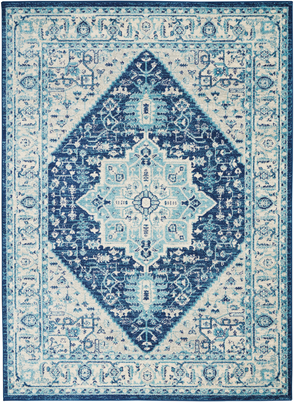 Nourison Tranquil TRA06 Ivory/Navy Rug