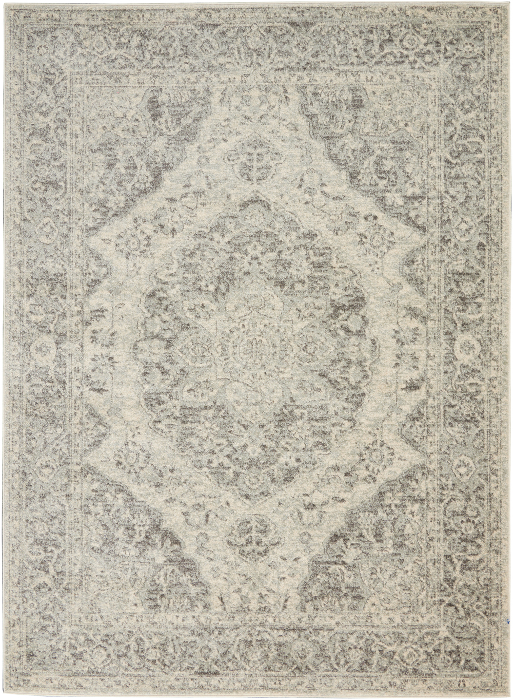 Nourison Tranquil TRA05 Ivory/Grey Rug