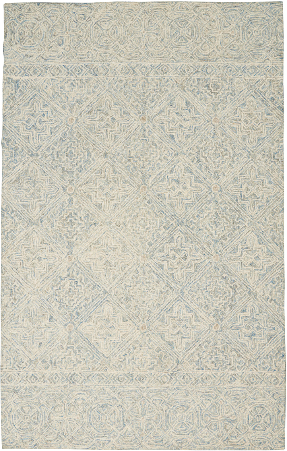 Nourison Azura AZM01 Ivory/Light Blue Rug
