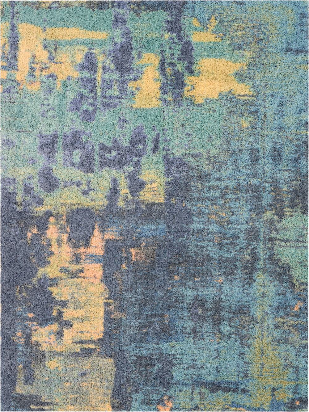 Nourison Abstract Shag ABS03 Multicolor Rug