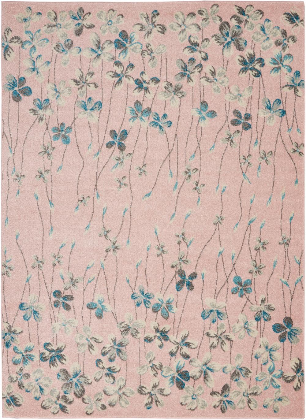 Nourison Tranquil TRA04 Pink Rug