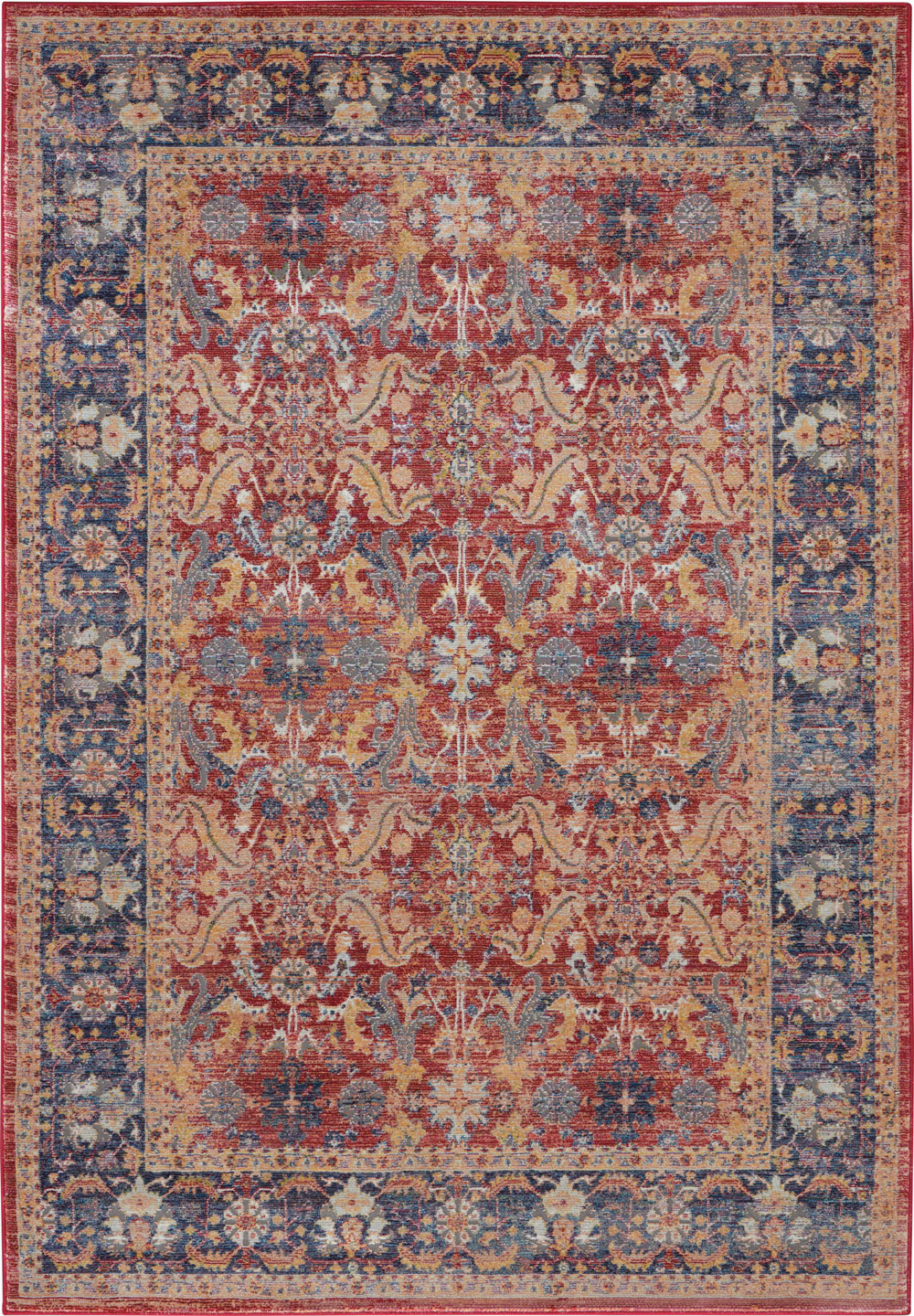 Nourison Global Vintage GLB02 Red Rug
