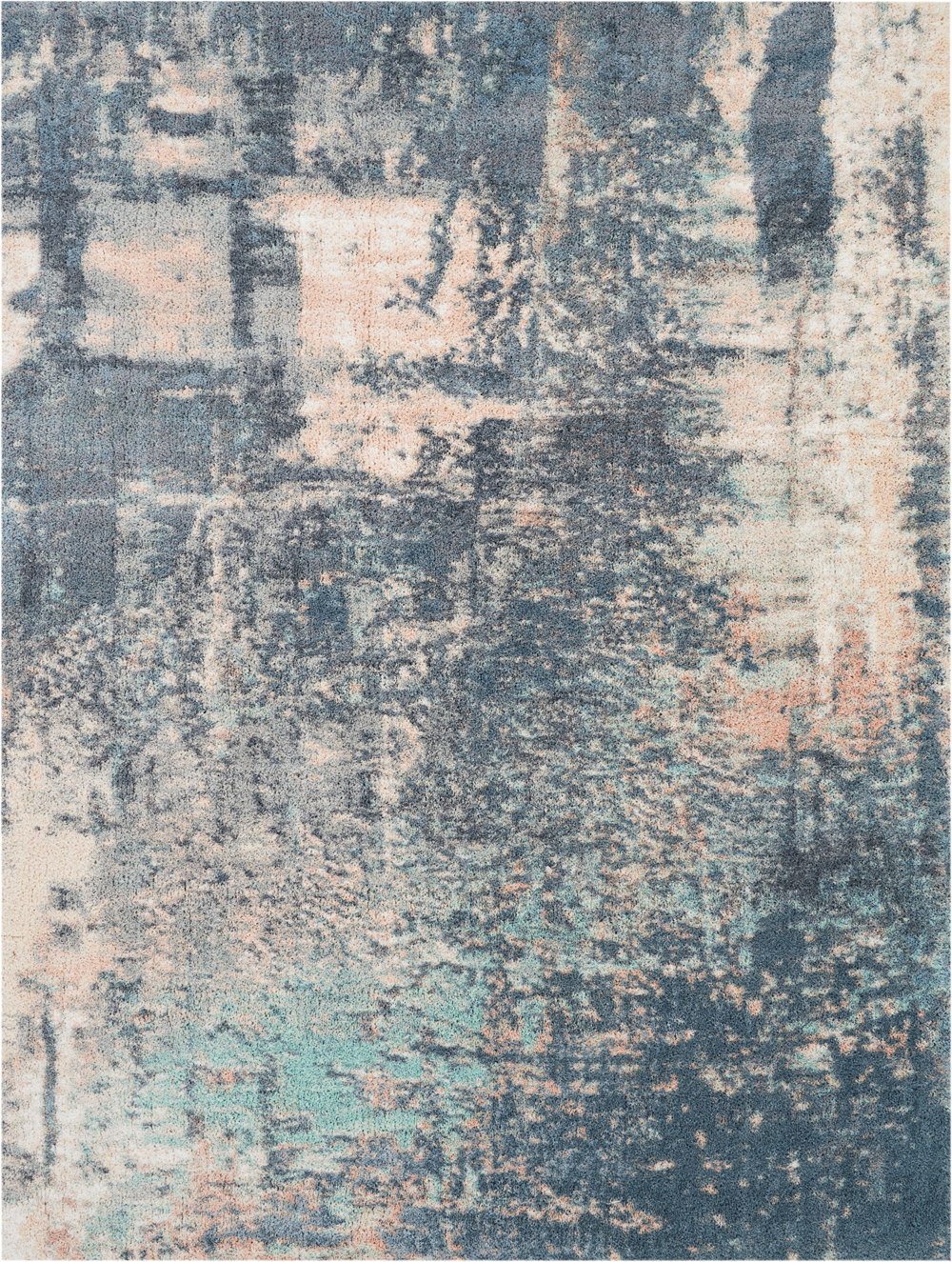 Nourison Abstract Shag ABS02 Slate Blue Rug