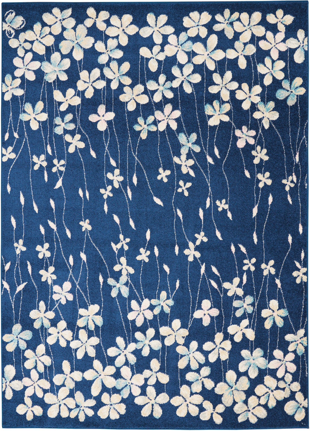 Nourison Tranquil TRA04 Navy Rug