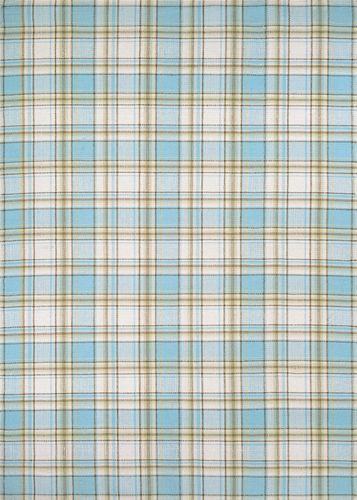 couristan bar harbor cape plaid cornflower/natl