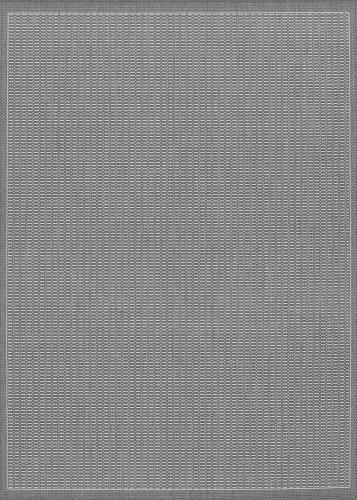 couristan recife saddlestitch grey/white