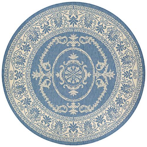 couristan recife antique medallion champ/blue