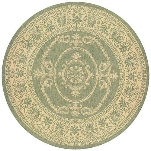 couristan recife antique medallion green/natural