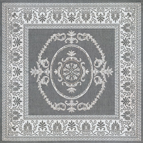 couristan recife antique medallion grey/white