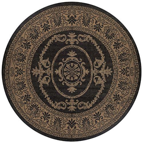 couristan recife antique medallion black/cocoa