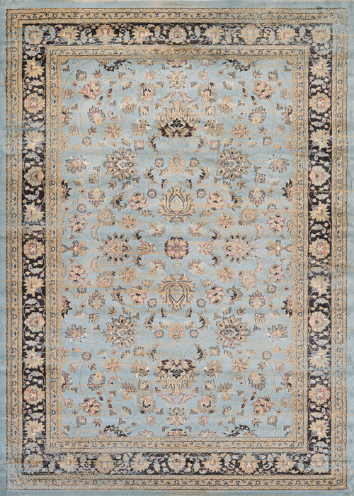 couristan zahara farahan amulet light blue/black