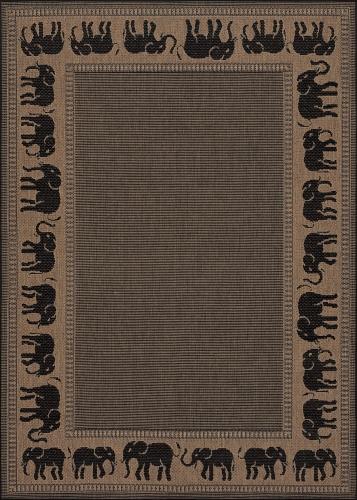 couristan recife elephant cocoa/black
