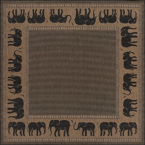 couristan recife elephant cocoa/black