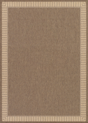 couristan recife wicker stitch cocoa/natural