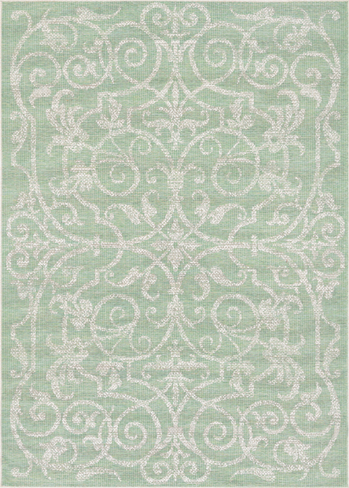 couristan monaco summer quay ivory/light green