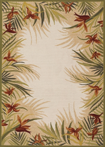 couristan covington tropic gardens sand/multi
