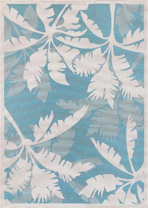 couristan monaco coastal floral ivory/turquoise