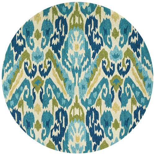 couristan covington delfina azure/lemon