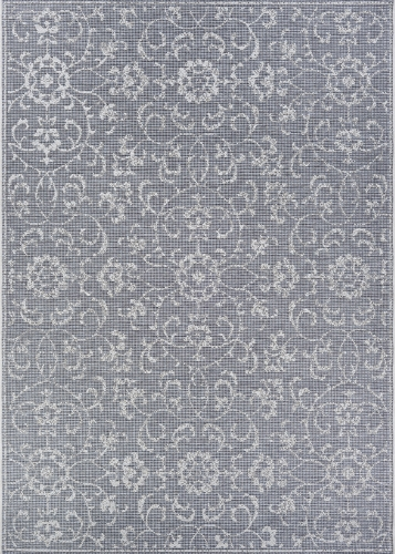 couristan monte carlo summer vines dark grey/ivory