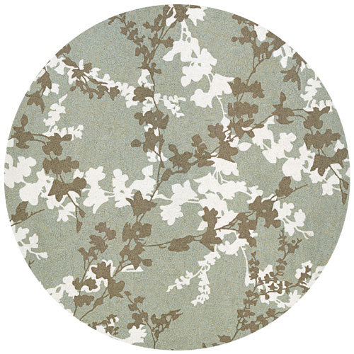 couristan covington willow branch sage/ivory