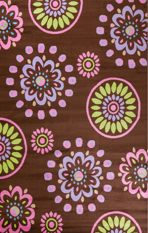 concord global alisa flower kaleidoscope brown