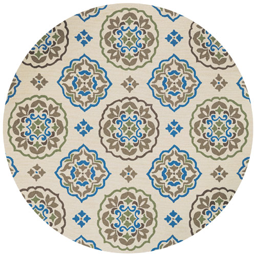 couristan covington san clemente cream/blue