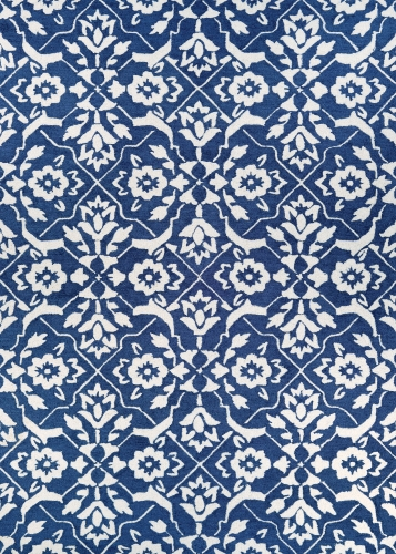 couristan crawford tulip lattice blue/ivory