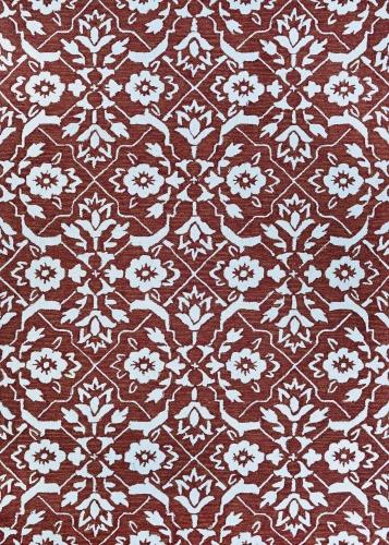 couristan crawford tulip lattice flower pot/ivory