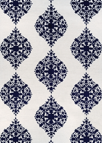 couristan crawford ornament ivory/blue